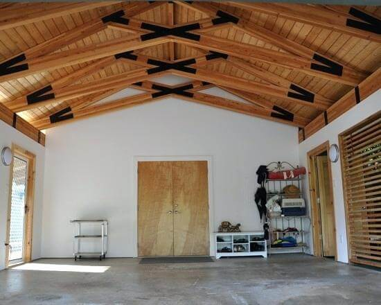 small garage man cave idea