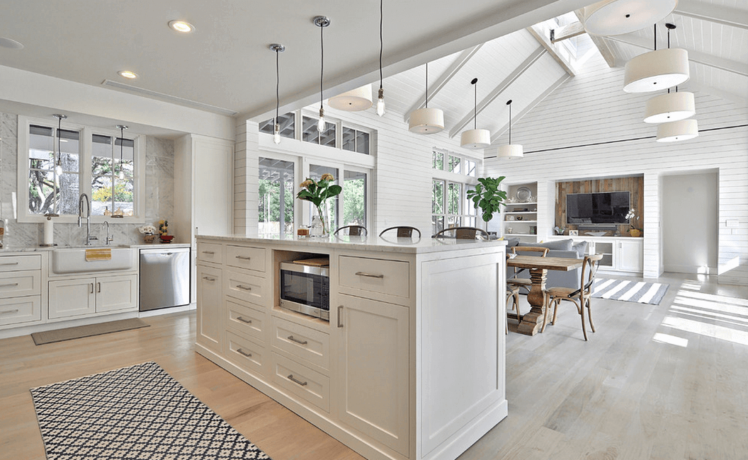 white-kitchen-vaulted-high-ceilings