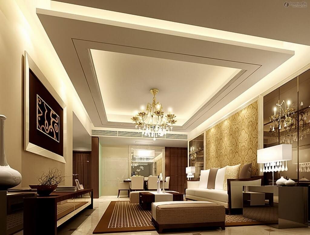 wooden false ceiling design for living room