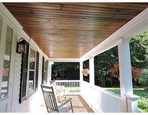 best wood for porch ceiling