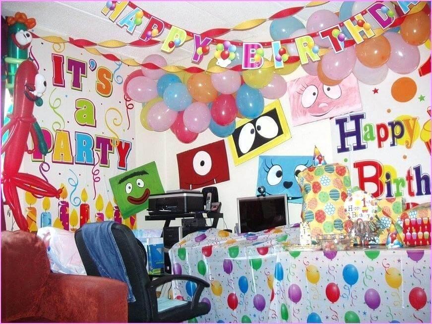 birthday decoration at home wall