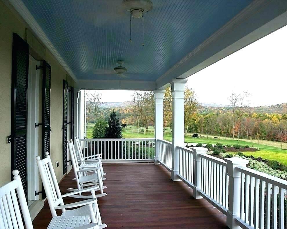 blue patio ceiling porch ideas