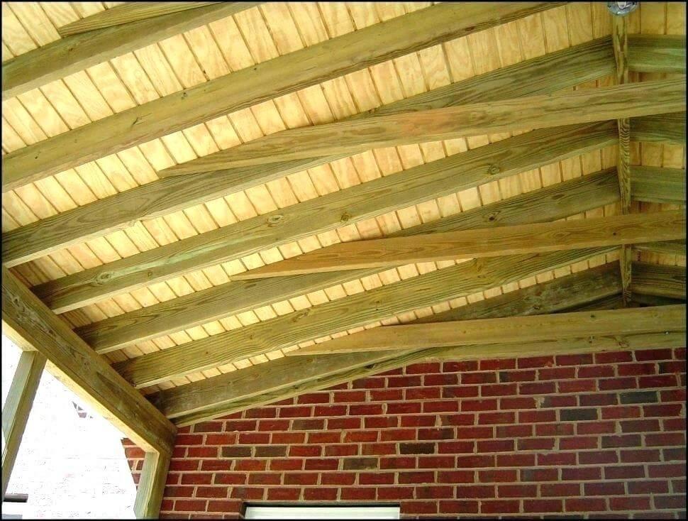 cedar porch ceiling finish