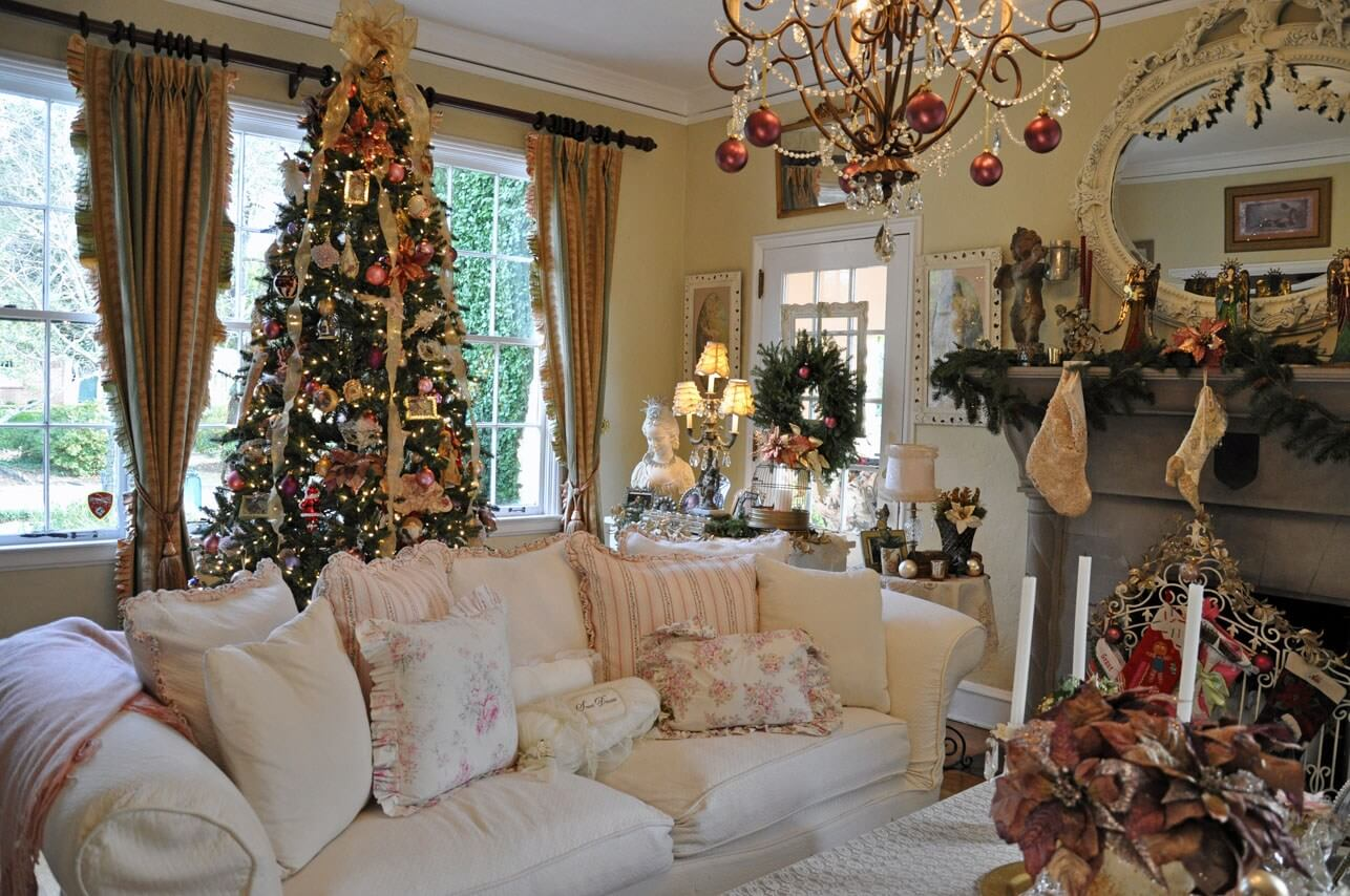 christmas decor inside house
