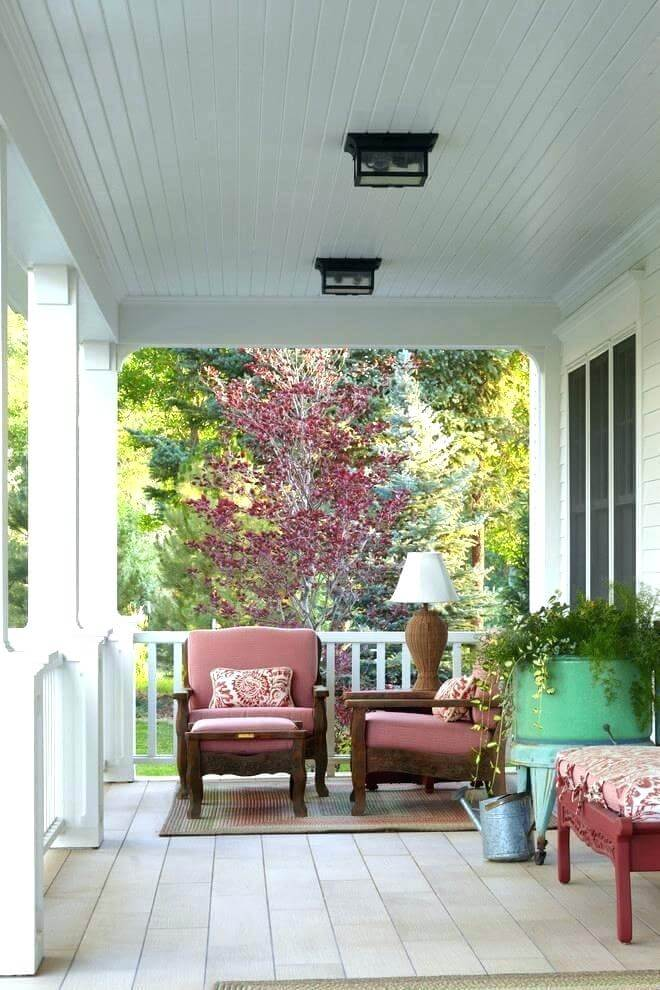 corrugated metal porch ceiling