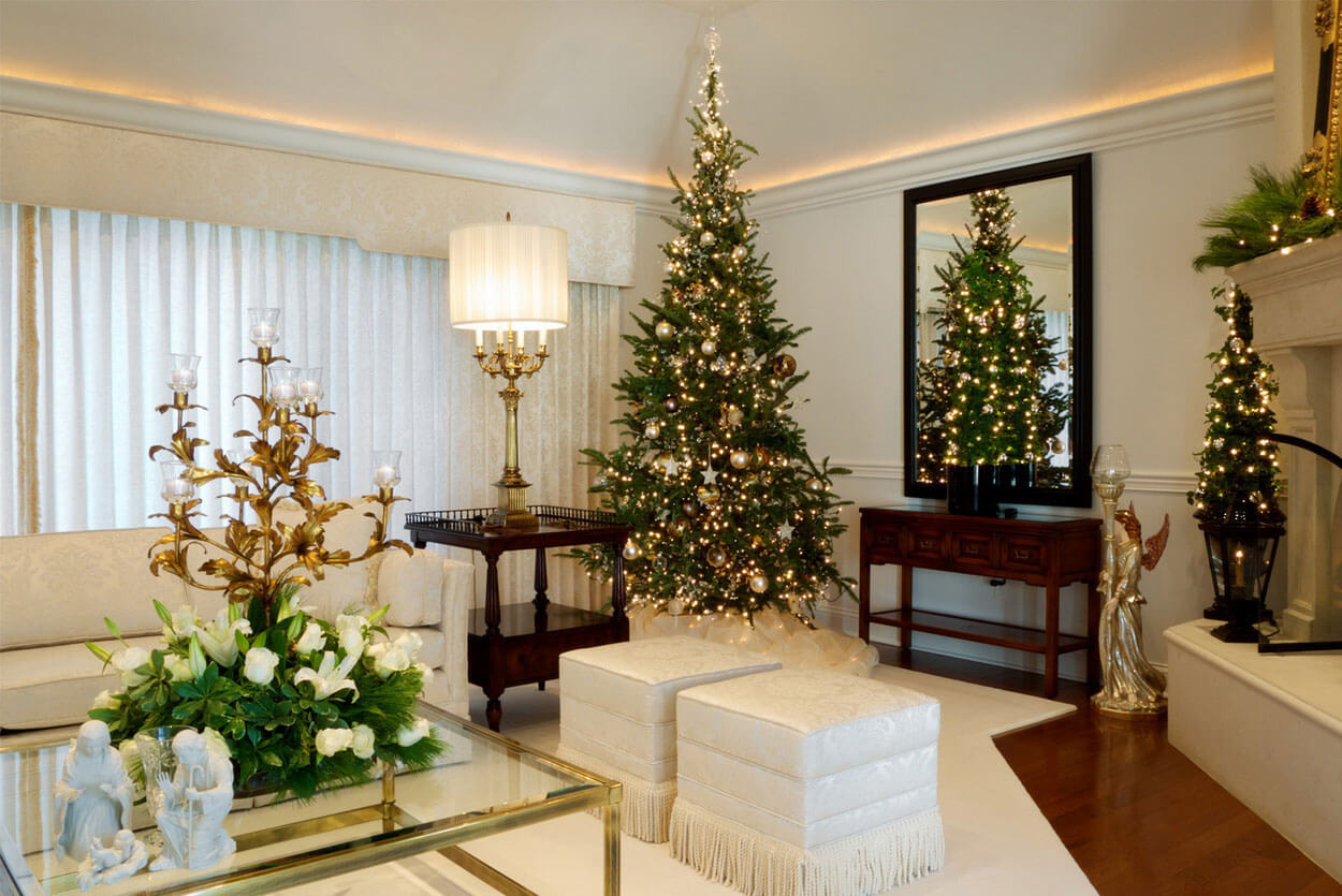 elegent indoor christmas decoration ideas