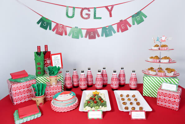 homemade tacky christmas sweaters party ideas