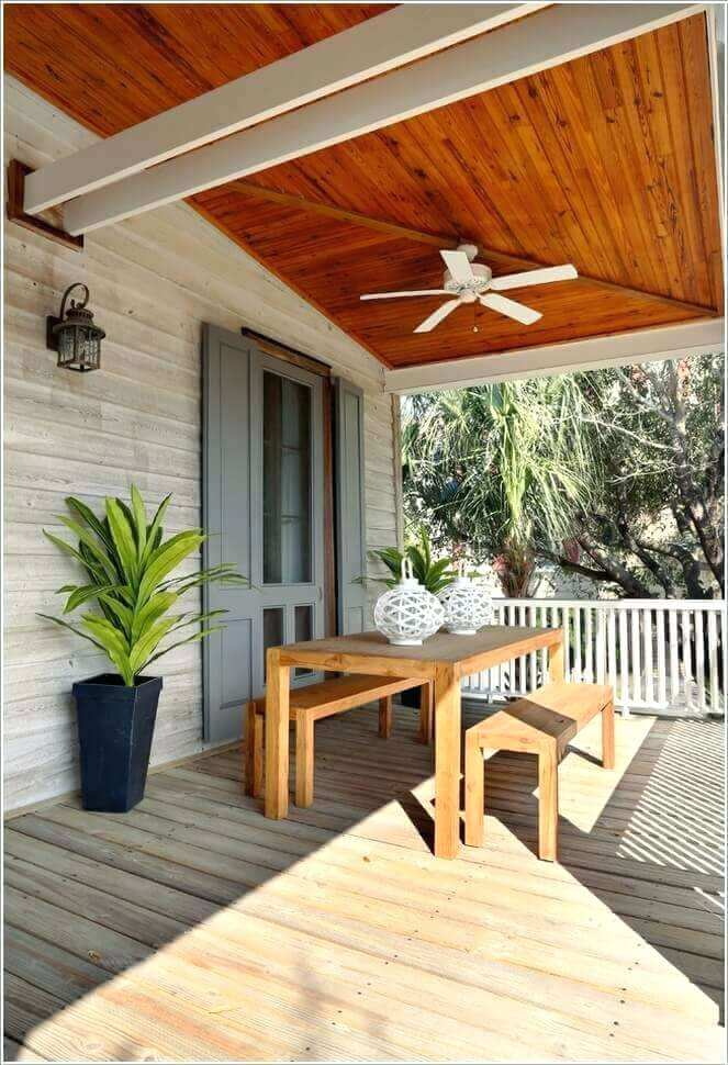 Wooden porch ceiling ideas UK