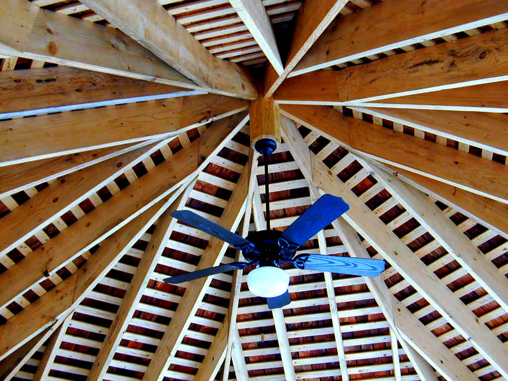 plywood porch ceiling