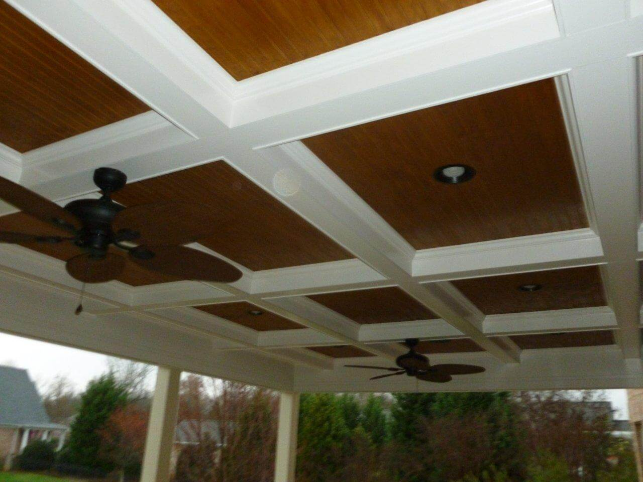 stone patio porch ceiling