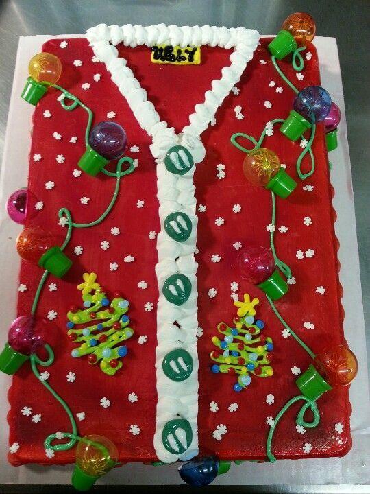 ugly christmas sweater cake decor ideas
