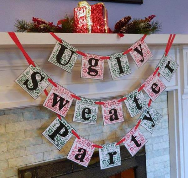 50 Best Ugly Christmas Sweater Party Decoration Ideas with Images