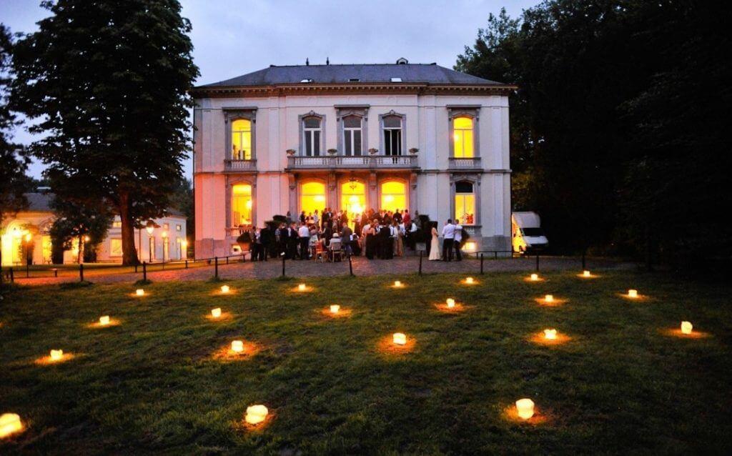 Elegant backyard lighting ideas for wedding party