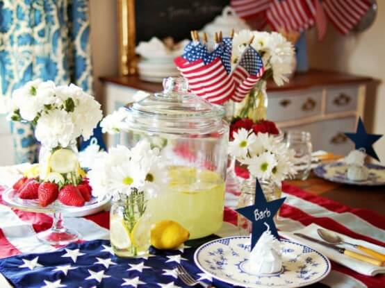 memorial day table decoration
