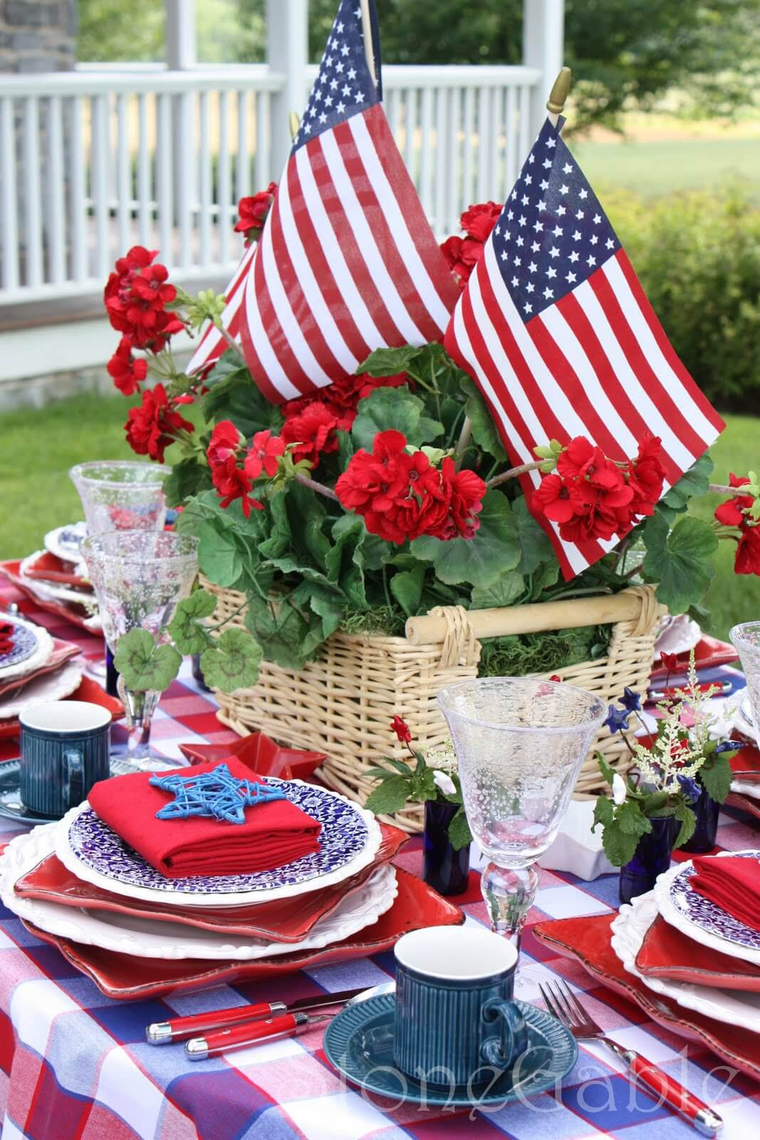 party decoration at memorial day