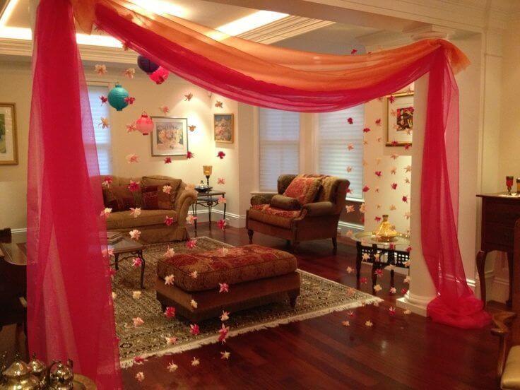 simple wedding bedroom