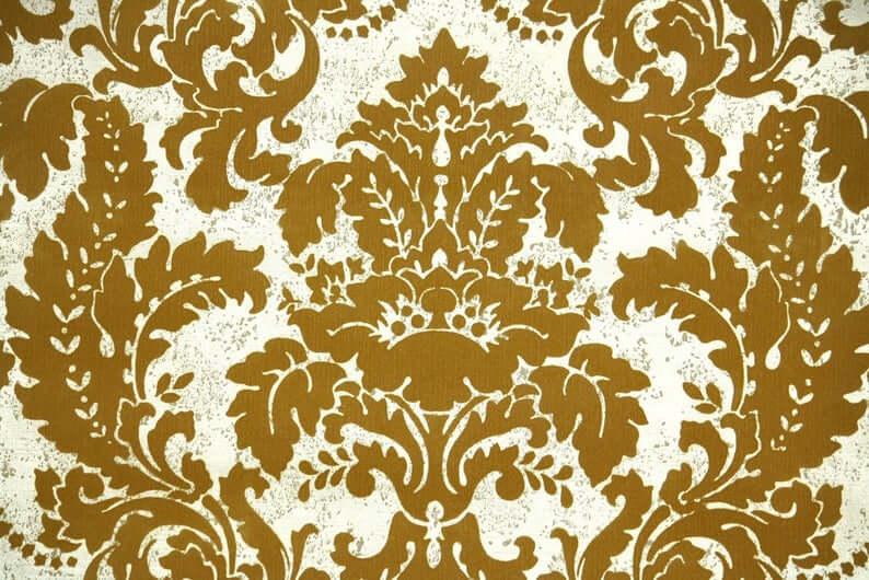 flocked floral wallpaper