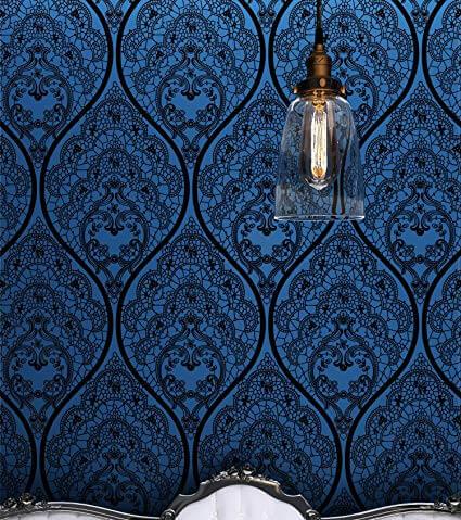 flocked wallpaper ideas