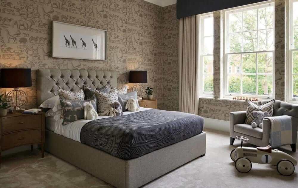 grey bedroom wallpaper ideas