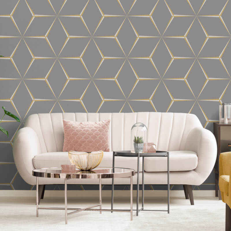 unusual wallpaper for living room