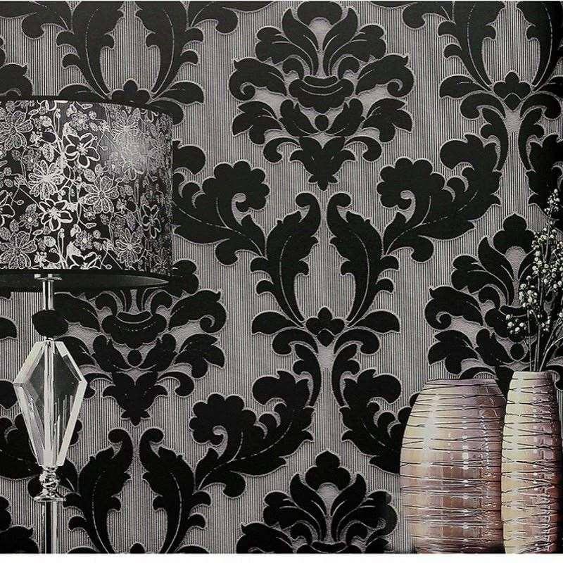 victorian flocked wallpaper