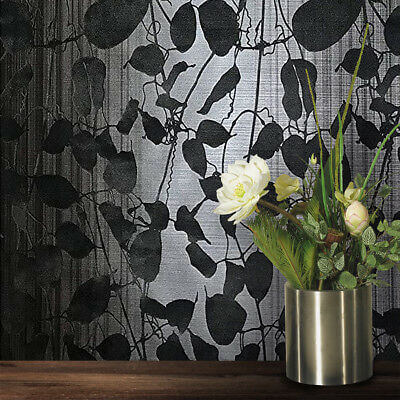 what is flocked wallpaper