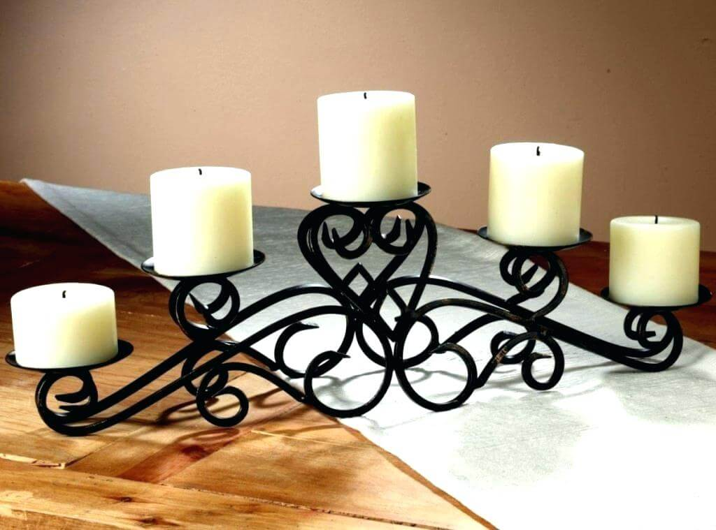 decorating dining table with candles