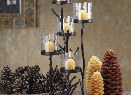 wedding table candle decorations