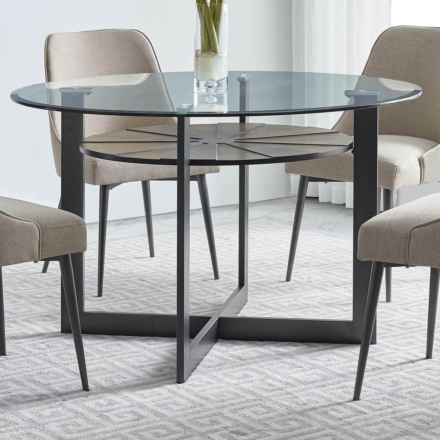 Contemporary Glass Dining Tables Ideas with Imges